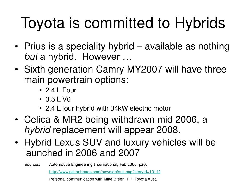 Toyota is committed to Hybrids