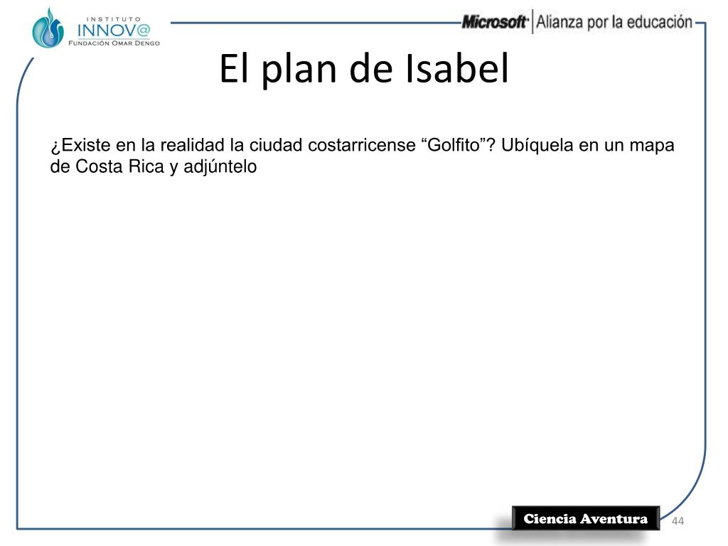 El plan de Isabel