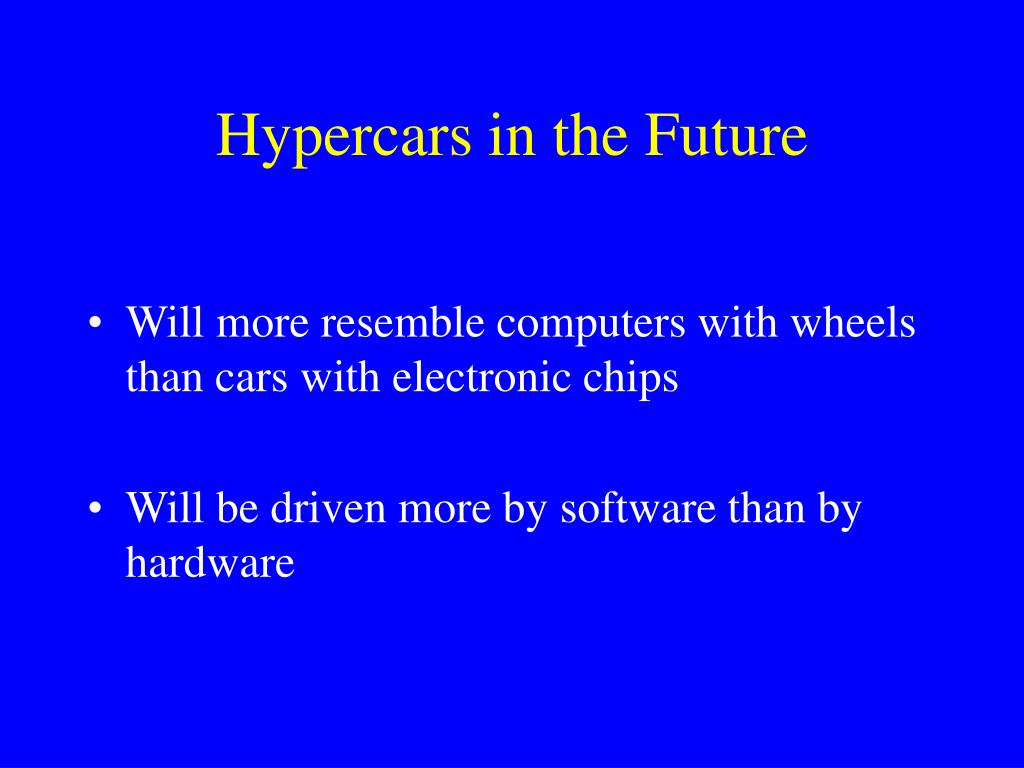 Hypercars in the Future