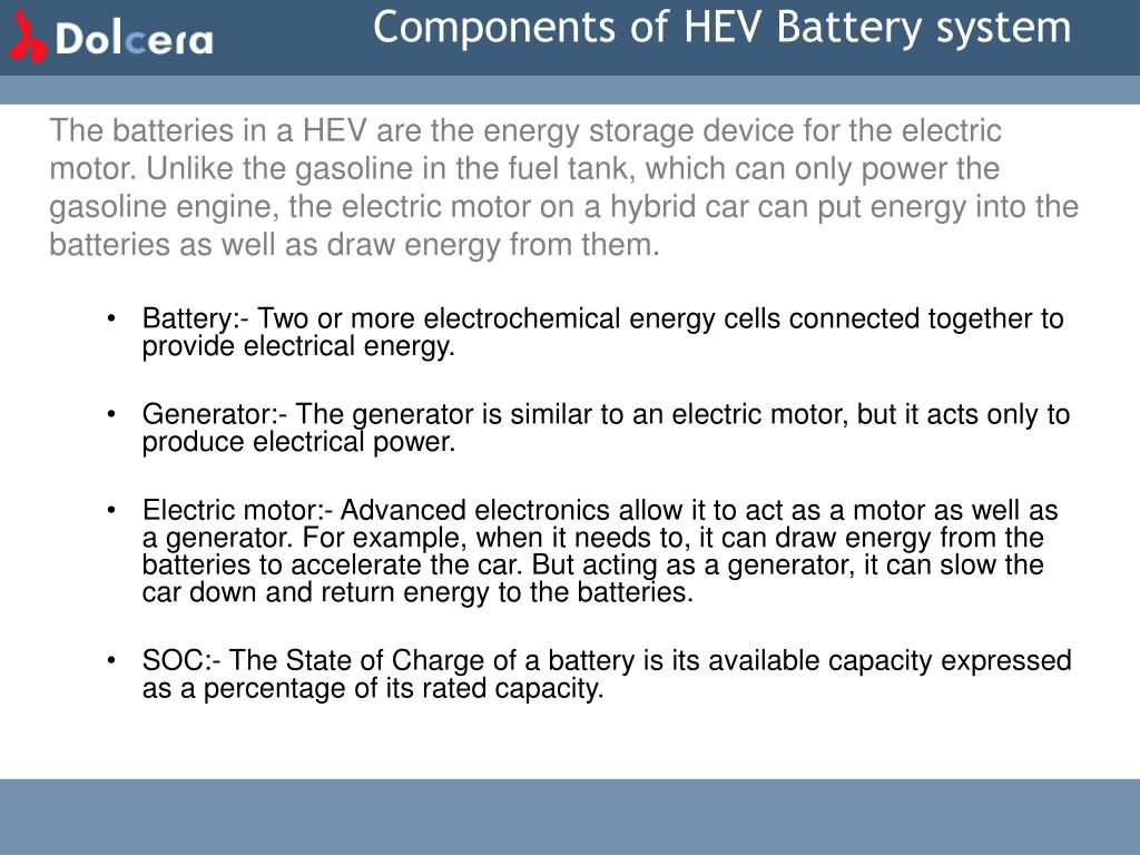 Components of HEV Battery system