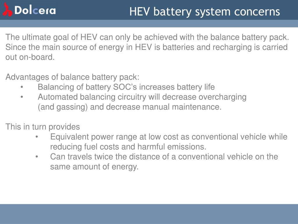 HEV battery system concerns