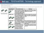 toyota motors technology approach