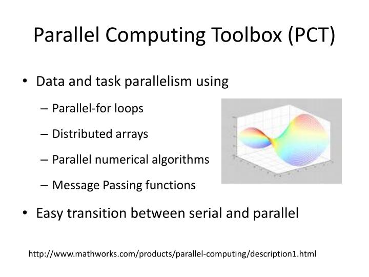Parallel computing toolbox pct