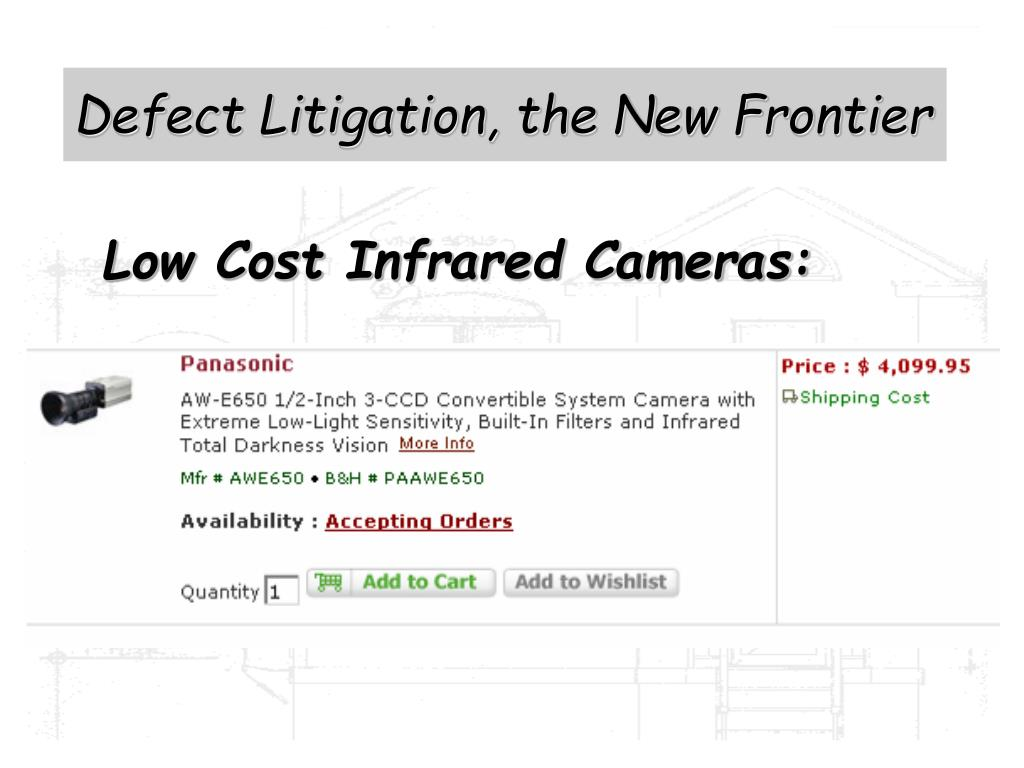 Defect Litigation, the New Frontier