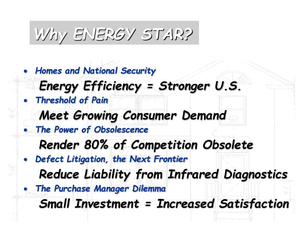 Why ENERGY STAR?