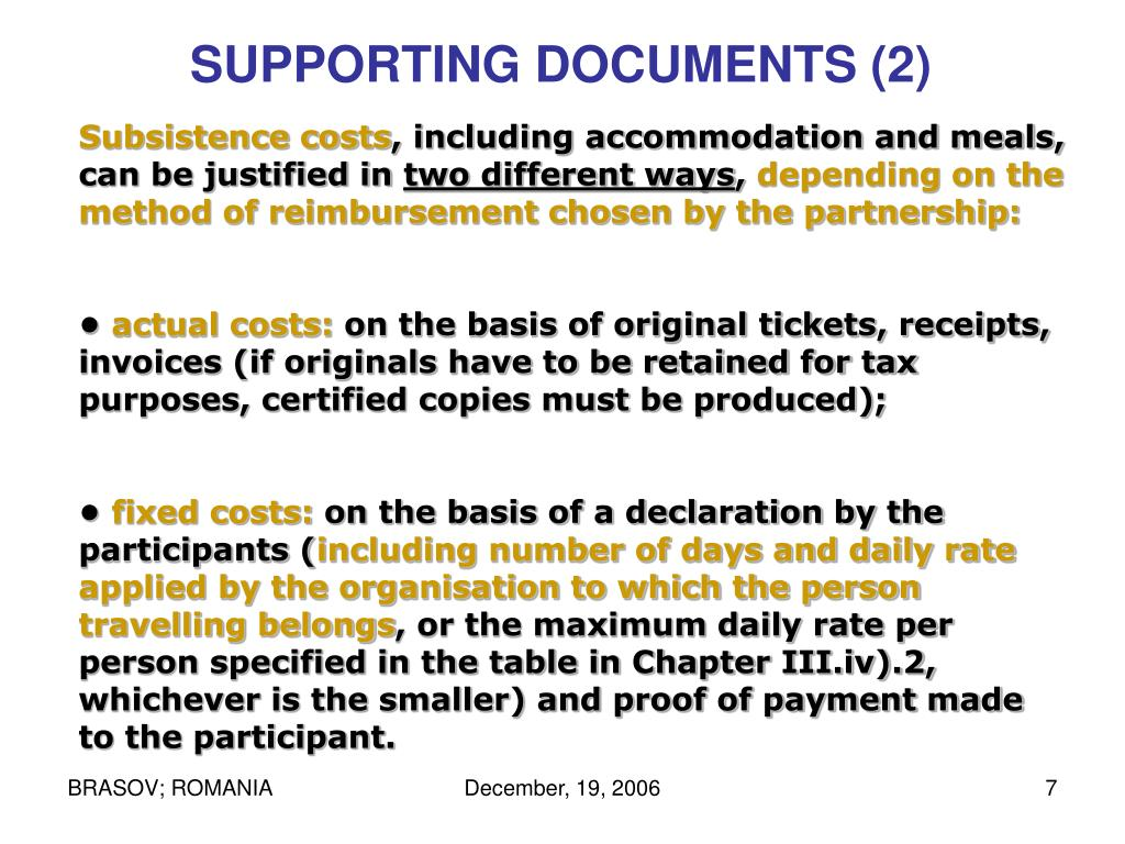 SUPPORTING DOCUMENTS (2)