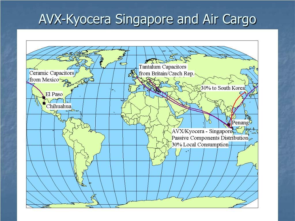 AVX-Kyocera Singapore and Air Cargo
