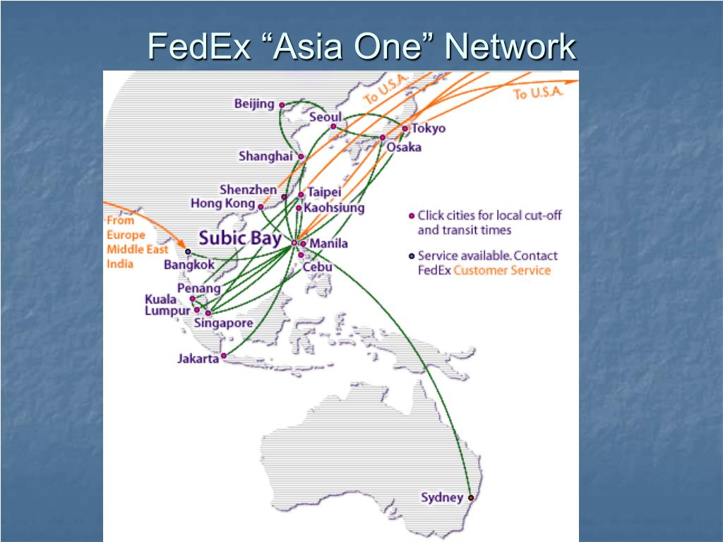 "FedEx ""Asia One"" Network"