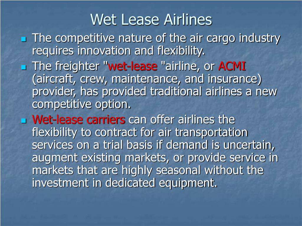 Wet Lease Airlines