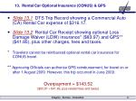 13 rental car optional insurance conus gps