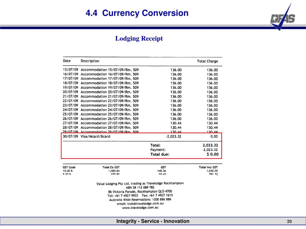 4.4  Currency Conversion