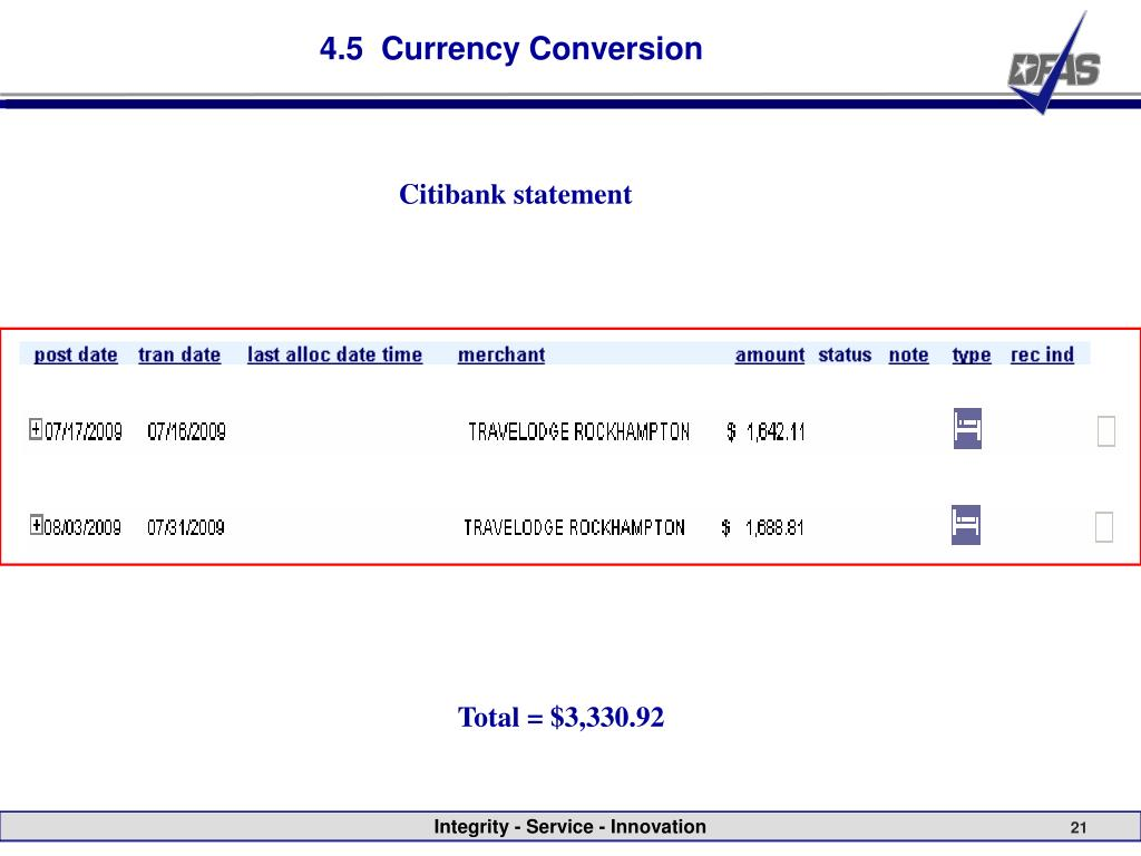4.5  Currency Conversion