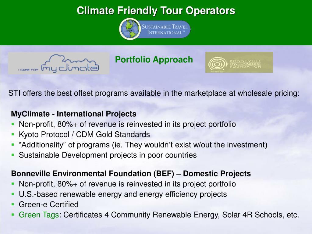 Climate Friendly Tour Operators
