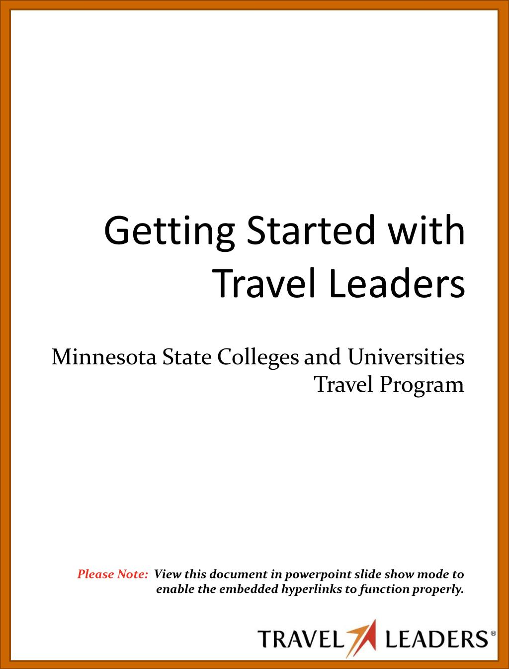 Getting Started with Travel Leaders