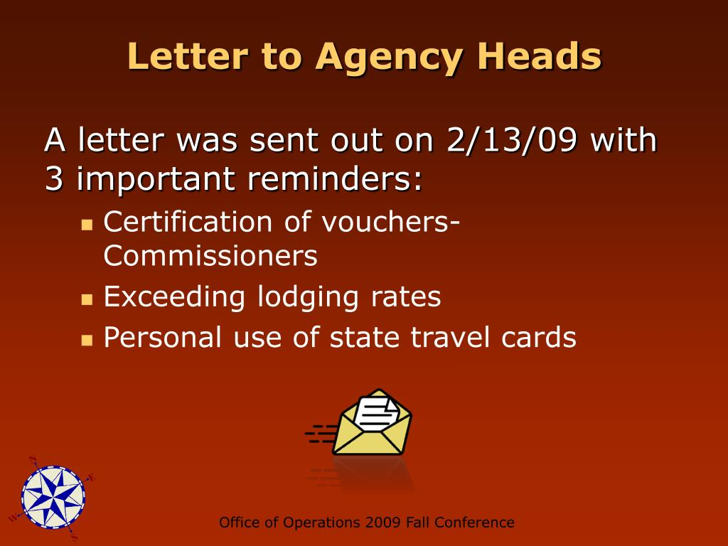 Letter to Agency Heads