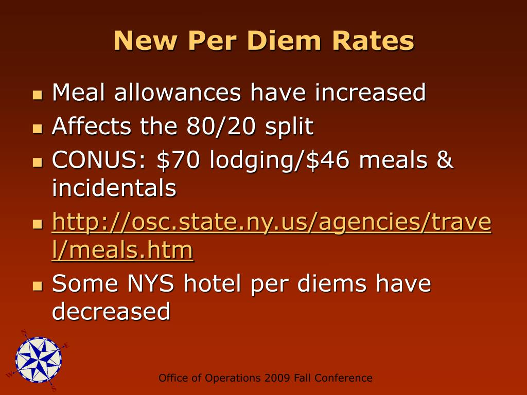 New Per Diem Rates