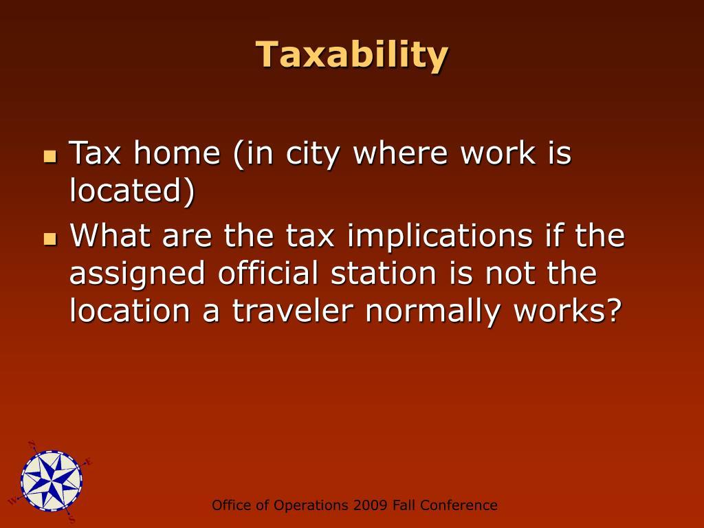 Taxability
