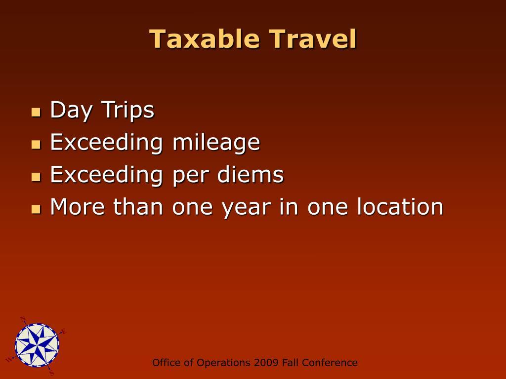 Taxable Travel