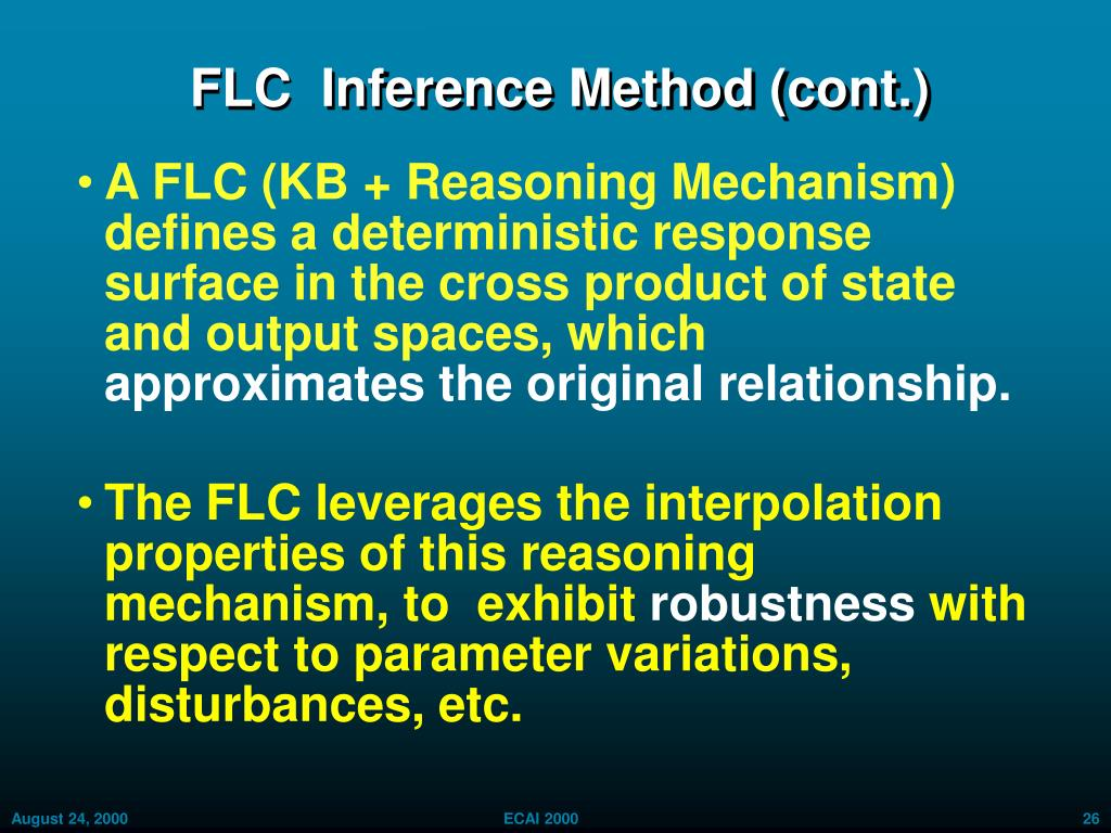 FLC  Inference Method (cont.)