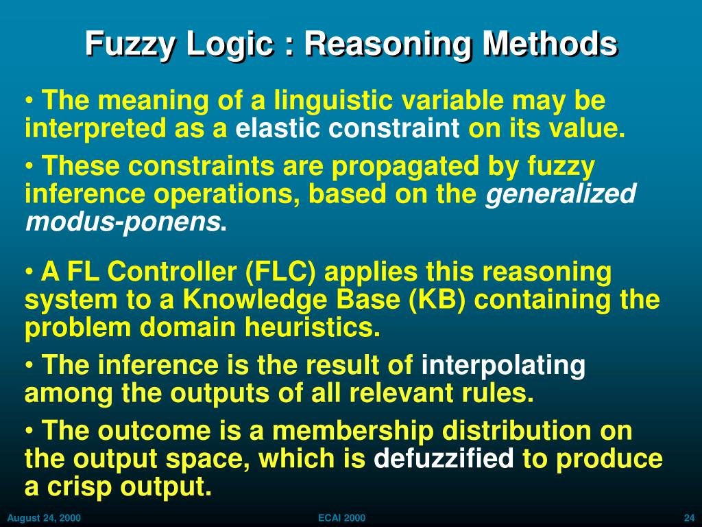 Fuzzy Logic : Reasoning Methods