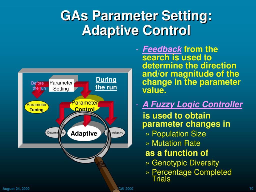 GAs Parameter Setting: