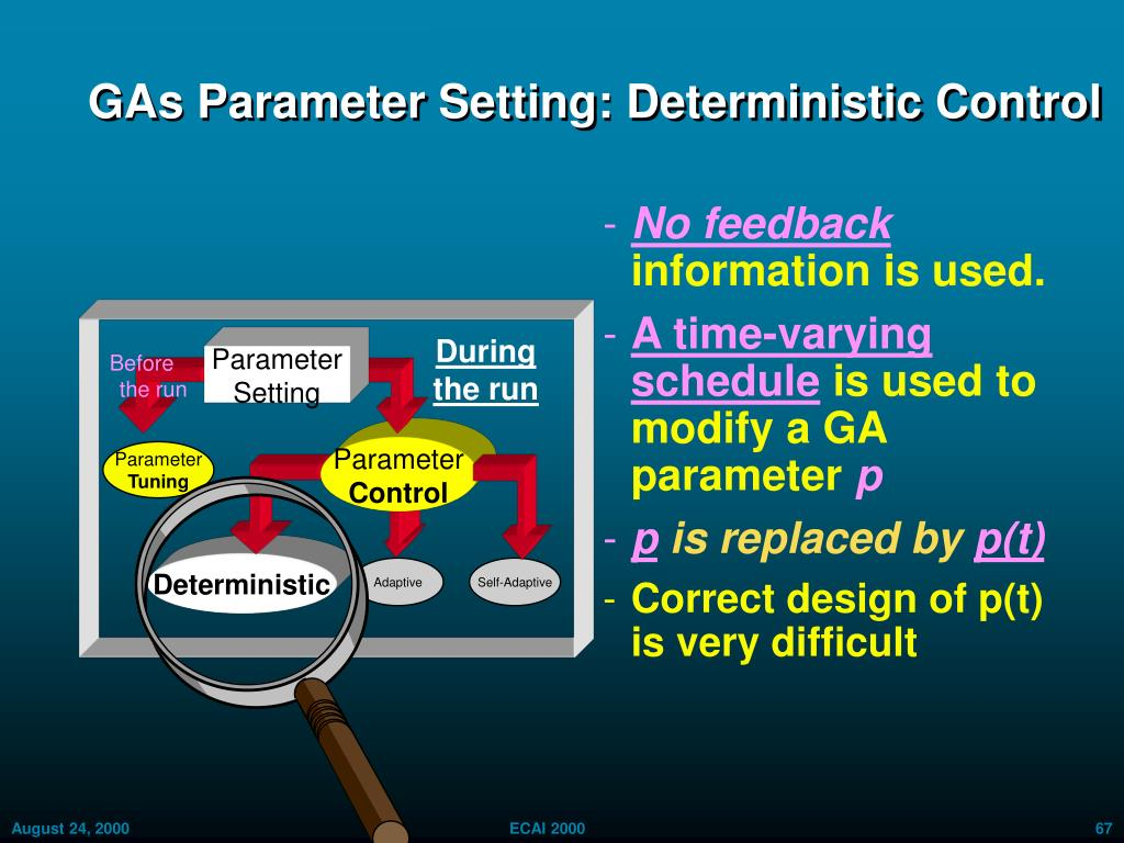 GAs Parameter Setting: Deterministic Control