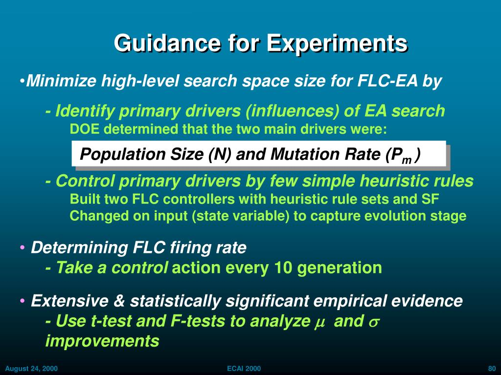 Guidance for Experiments