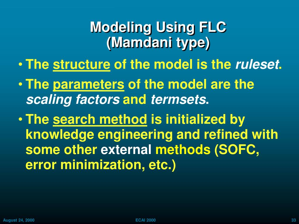 Modeling Using FLC