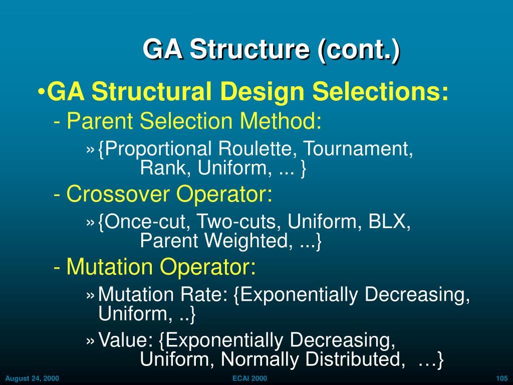 GA Structure (cont.)
