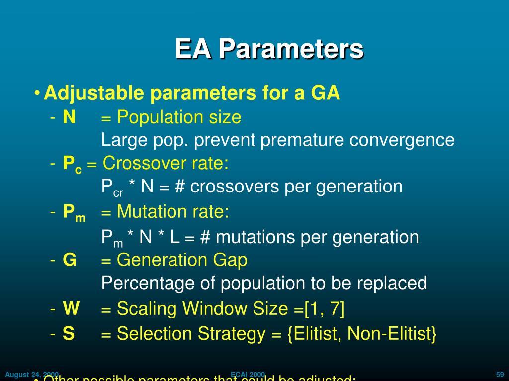 EA Parameters
