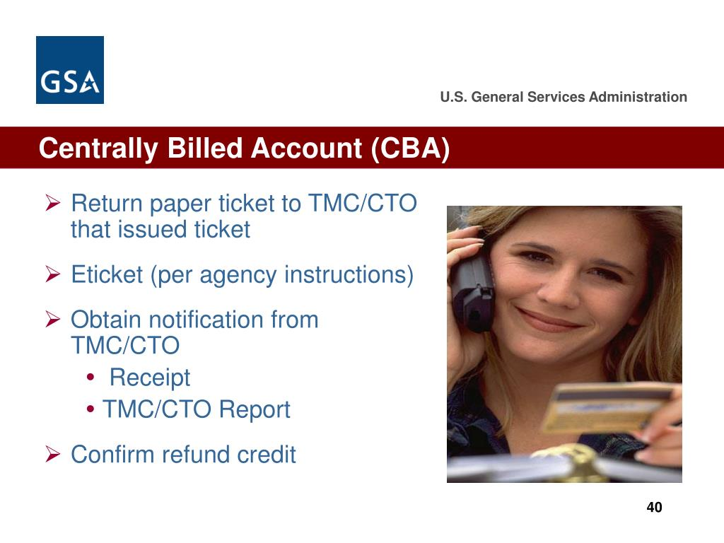 Centrally Billed Account (CBA)