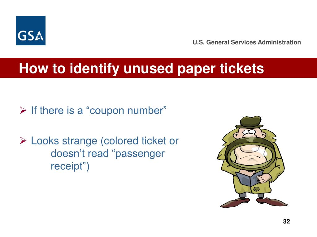 How to identify unused paper tickets