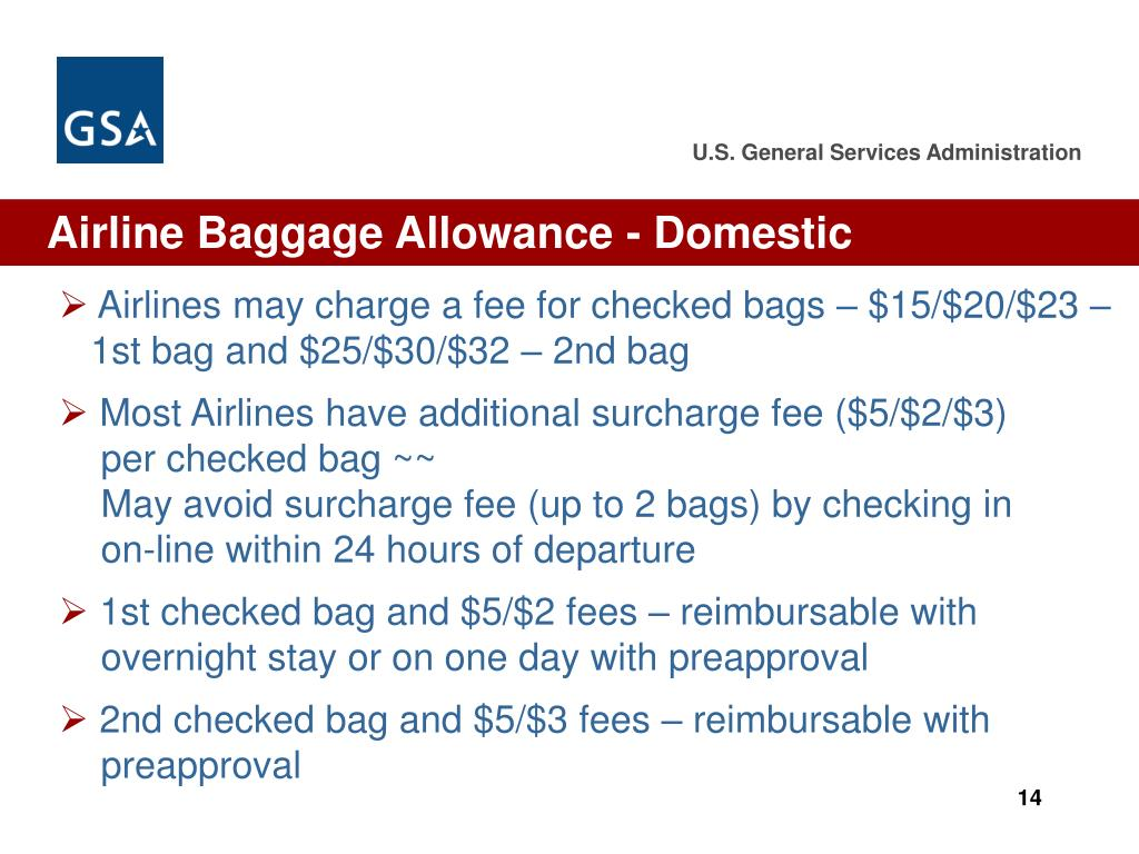 Airline Baggage Allowance - Domestic