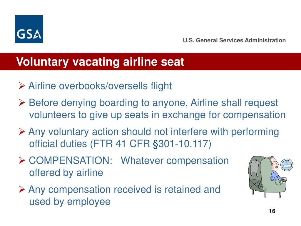 Voluntary vacating airline seat