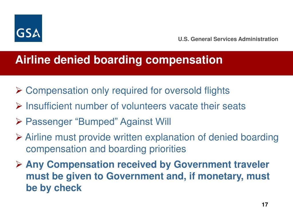 Airline denied boarding compensation
