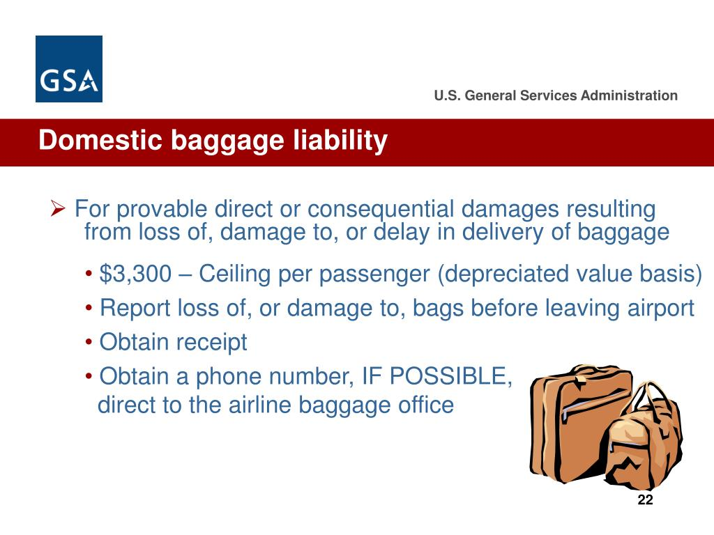 Domestic baggage liability