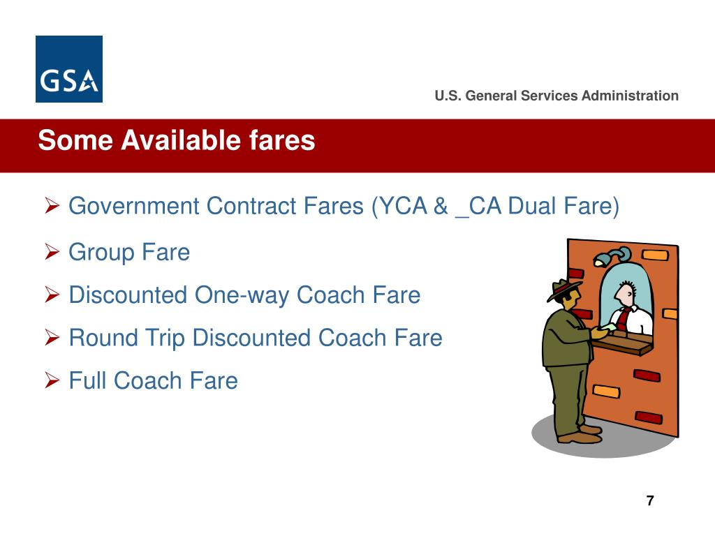 Some Available fares