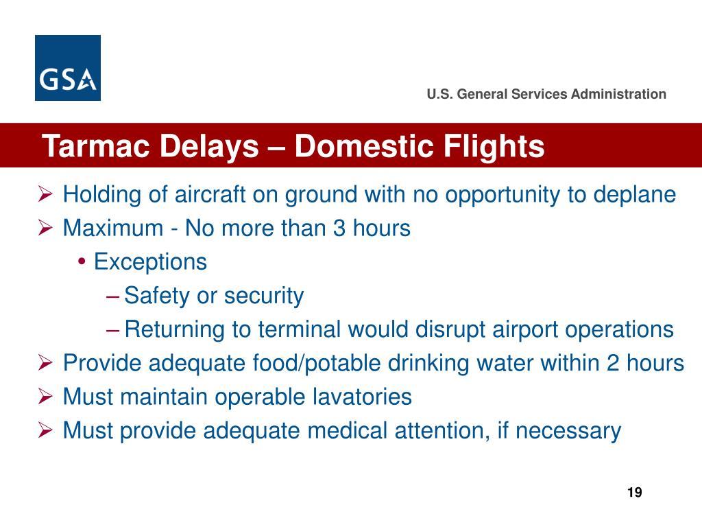 Tarmac Delays – Domestic Flights