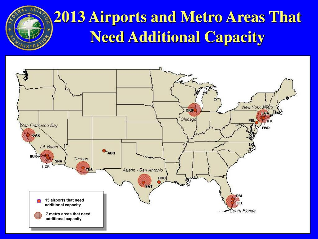 7 metro areas that need additional capacity