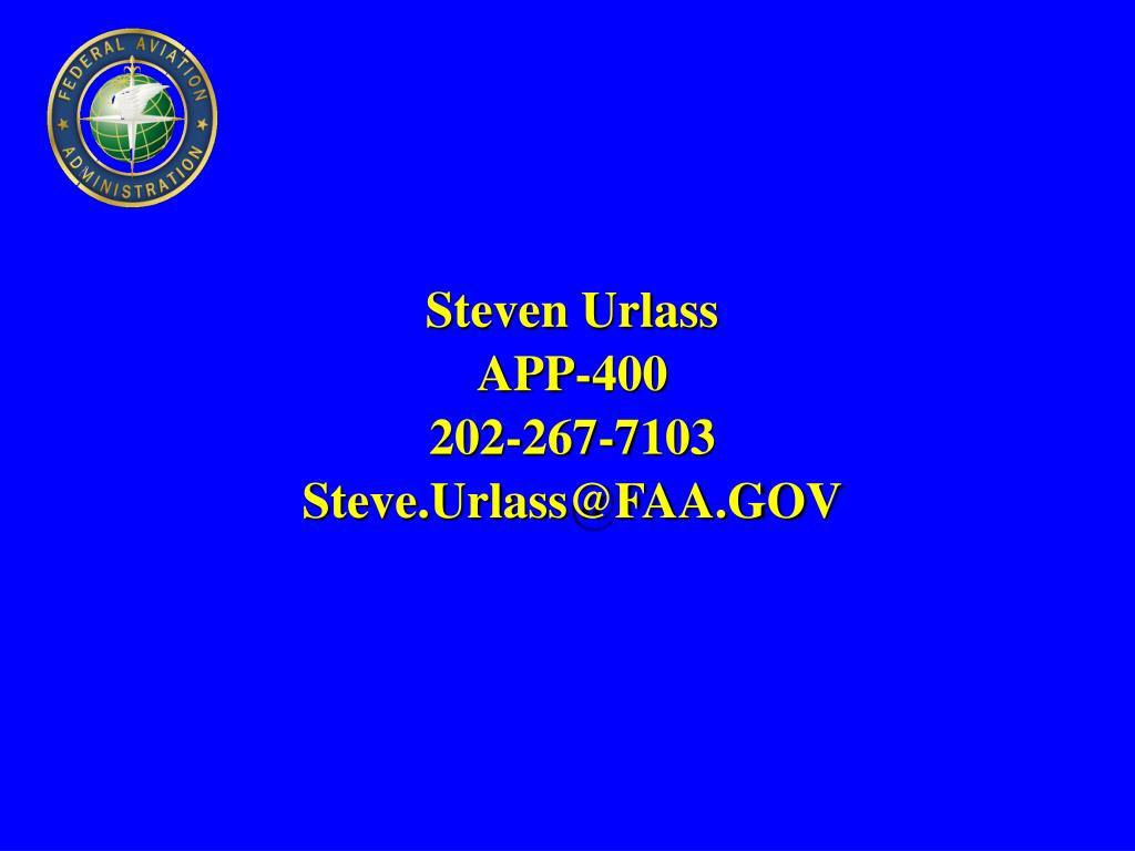 Steven Urlass