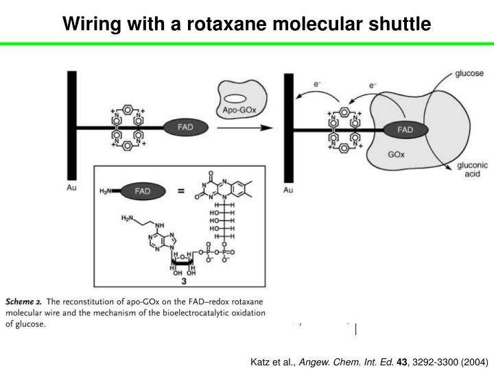 Wiring with a rotaxane molecular shuttle
