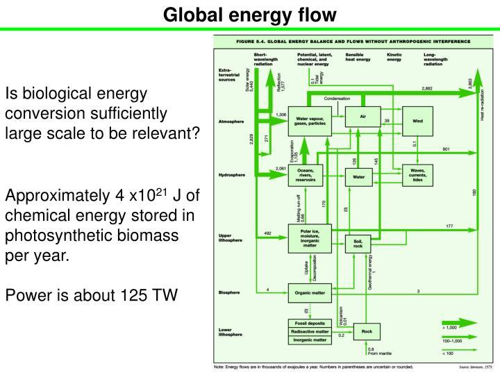 Global energy flow