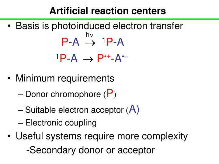 Artificial reaction centers