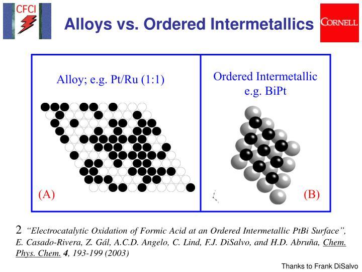 Ordered Intermetallic e.g. BiPt