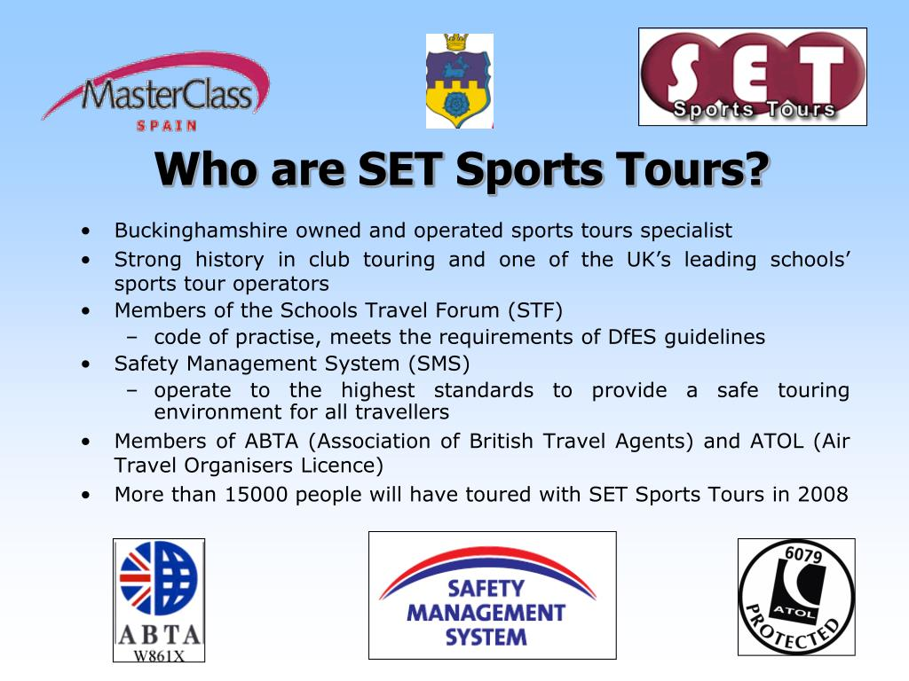 Who are SET Sports Tours?