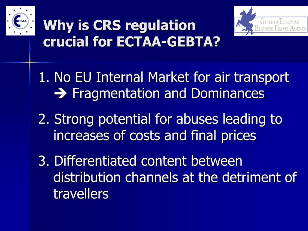 Why is CRS regulation crucial for ECTAA-GEBTA?