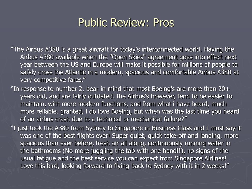 Public Review: Pros