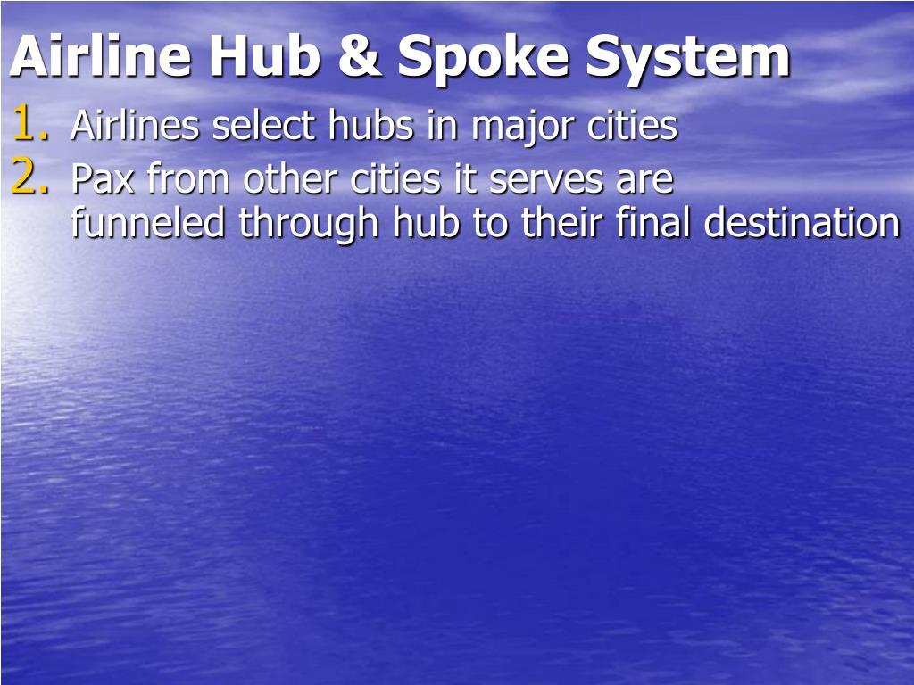 Airline Hub & Spoke System