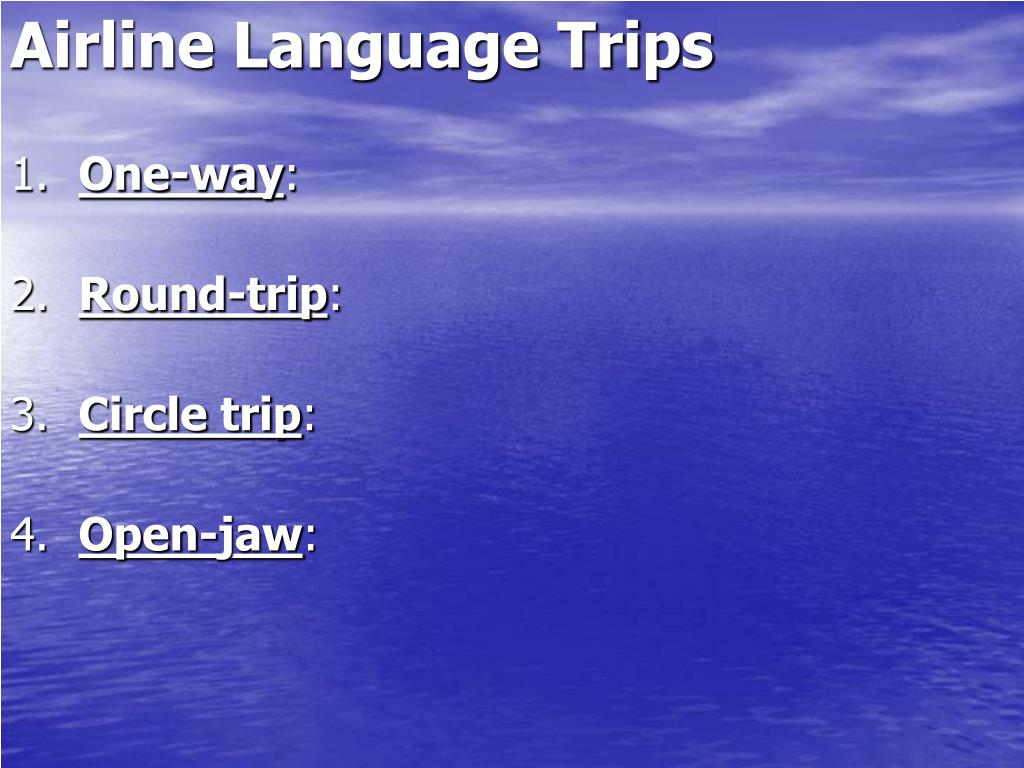 Airline Language Trips