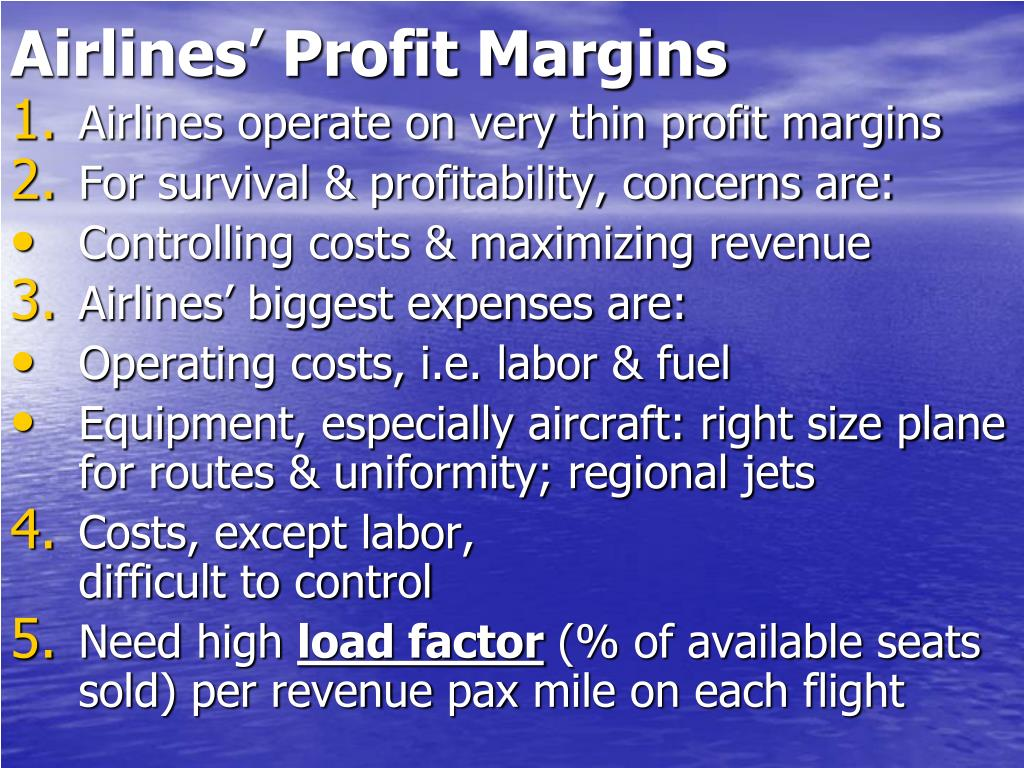 Airlines' Profit Margins